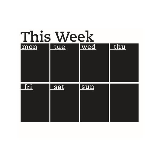Wall Sticker Calendário de Charlkboard removível Calendário de parede Calendário da semana Calendário do tabuleiro Blackboard Sticker Organizer Room / Office / School Decor