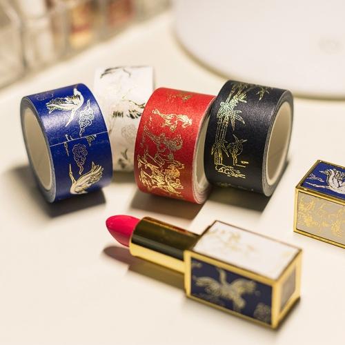 Tradycyjne wzory Washi Taśma papierowa maskująca na gorąco Elegancka ozdoba szminki