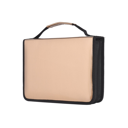 Slots Gold Pencil Bag Case Organizador de lápis colorido PU Leather Cosmetic Brush Pouch para artistas Estudante