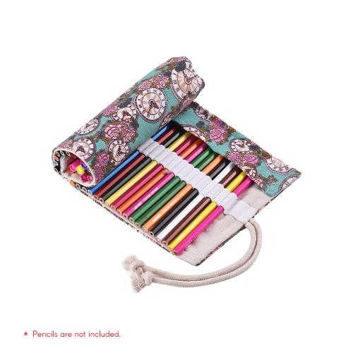 Płótno Ołówek Roll Pouch Case Bag Wrap Holder Storage 36 Otwory dla artysty