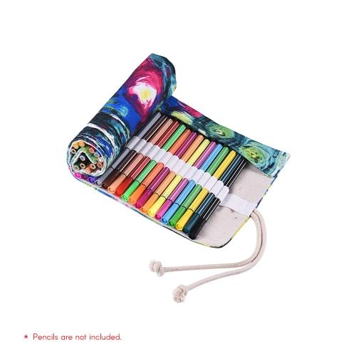 Armazenamento 36/48/72 do suporte do envoltório do saco da caixa do malote do rolo do lápis da lona para o artista
