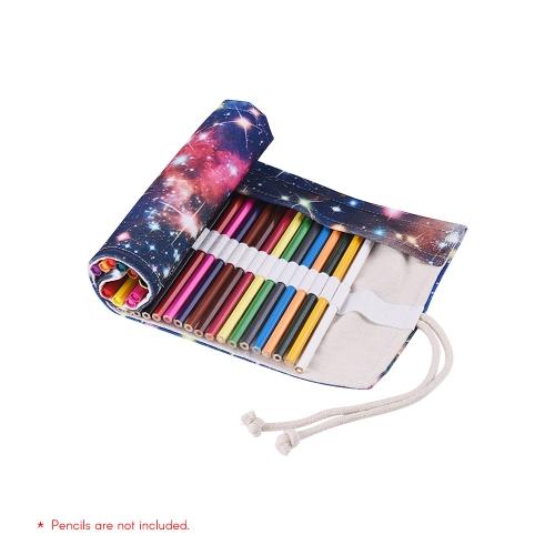 Płótno Ołówek Roll Pouch Case Bag Wrap Holder Storage 36/48/72 Otwory dla artysty