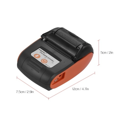 GOOJPRT PT-210 Portable Thermal Printer Handheld 58mm Receipt Printer for Retail Stores Restaurants Factories Logistics, 10 Paper Rolls