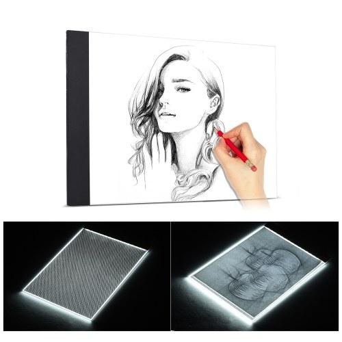 Rozmiar A4 Niezwykle cienki LED Light Box Drawing Tracing Tracer Copyboard