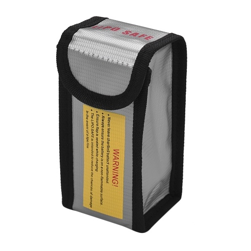 Взрывозащищенная сумка для безопасного хранения батарей Lipo Противопожарная водонепроницаемая защитная сумка для зарядки и хранения Малый размер