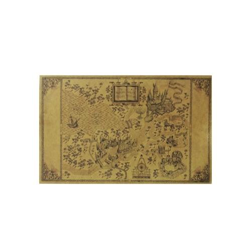 Karte der Zaubererwelt rund um den großen Papierposter Film Klassische Dekoration 510 * 320mm