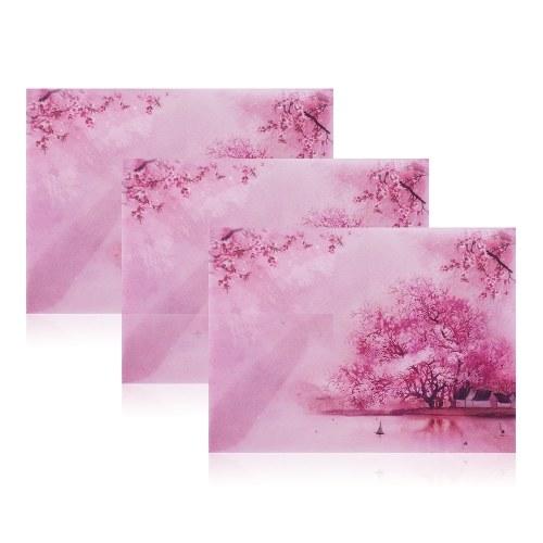 3 sztuki koperty z papieru czerpanego
