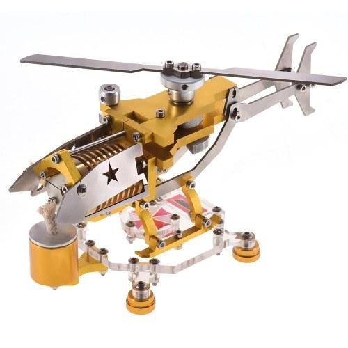 Generatore di motore Stirling a vuoto Modello 300-1000 RPM Modello di elicottero di trasporto Kit motore motore Stirling Scienza Collezione di giocattoli in metallo