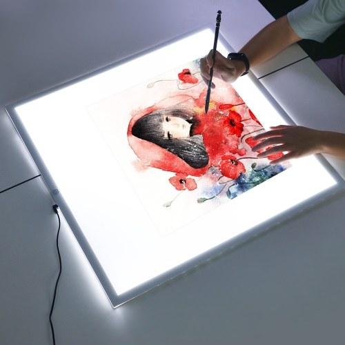 Ultra-Thin Portable LED  Light Pad  Artcraft Tracing  Copy Board Tablet-38x38cm