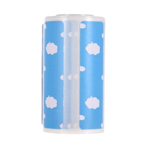 Etichette termiche dirette del fumetto sveglio Rotolo 57 * 30mm (2,17 * 1,18 pollici) Adesivo adesivo forte Stampa trasparente per stampante termica Pocket BT PeriPage A6, 1 rotolo