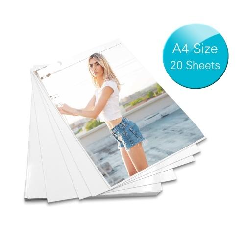 Papel A4 Profissional 20 Folhas Papel Fotográfico Brilhante