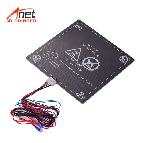 Anet 3D Printer Hot Bed Base Plate Heating Platform Heatbed Aluminum Plate Size 220 * 220 * 3mm with Cable Hot-bed Wire for Anet A8 A6 A2 TRONXY P802M 3D Printer Upgrade Suppliers 12V(1pcs)