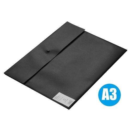 Pasta A3 Envelope de tamanho PP Bolsa de armazenamento de plástico Suporte de pasta de arquivo de documento em papel