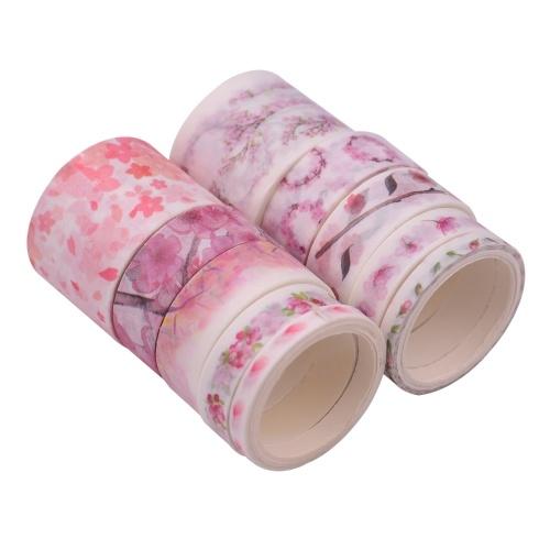Washi Japanische Papierbänder Scrapbooking Tape Rolls Buntes Design 10 Stück / Set