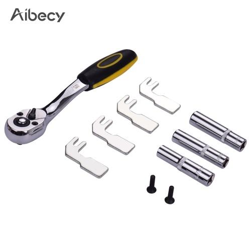 Aibecy 7/8/9mm Hexagonal Sleeve + Wrench + Steel Prongs Heater Block Holder Compatible with V6 MK7 MK8 MK9 MK10 Ender-3 Prusa 3D Printer