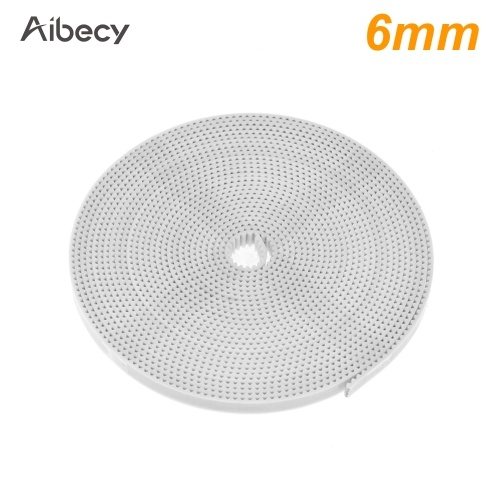Aibecy 3D Printer Parts 10 Meters White GT2 Timing Belt Open PU Synchronous Belt Width 6mm