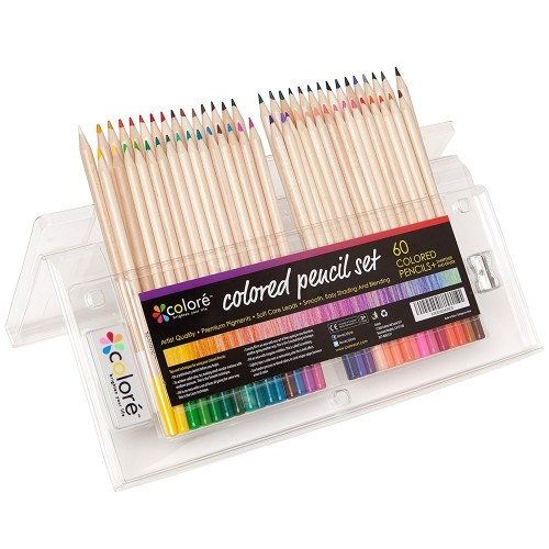 Colore 60 colores Set de lápices de colores Dibujo de madera Plumas de pintura Suministros de arte