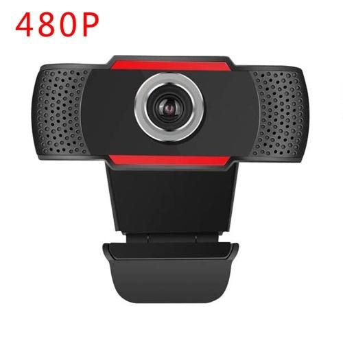 Камера для видеоконференций 480P HD Веб-камера Компьютерная камера с микрофоном с функцией шумоподавления USB Plug & Play для видеоконференций Онлайн-обучение