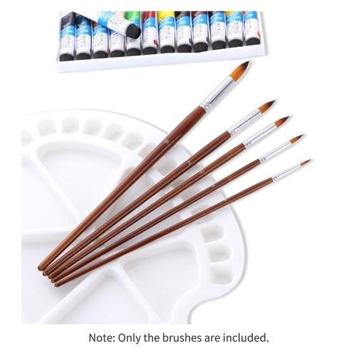13pcs Professional Art Paint Brushes Set Long Wooden Handle Nylon Hair Paintbrush for Acrylic Oil Watercolor Gouache Face Painting Drawing Art Supplie