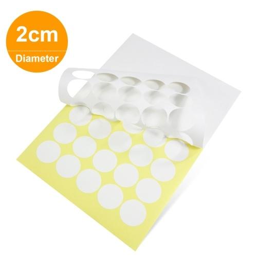20 Blatt runde Aufkleber Papier Blank weiße Klebeetiketten