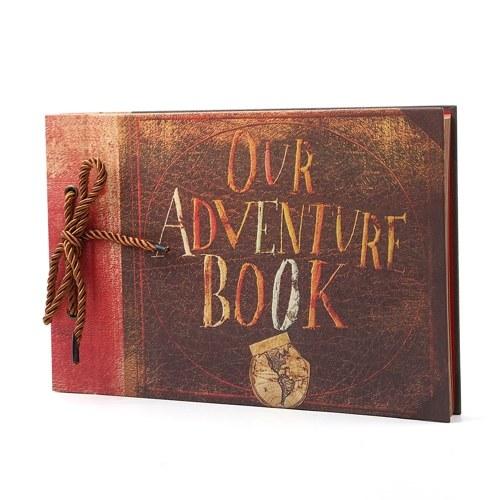 40 folhas nosso livro de aventuras faça você mesmo, álbum de fotos vintage