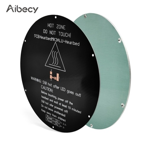 Aibecy MK3 Aluminum Round Heated Bed Heating Platform Aluminum Plate 220*220*3mm Compatible with Delta 3D Printer