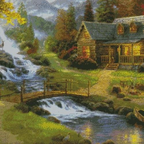 DIY 5D Diamond Painting Kit Cottage House Pattern