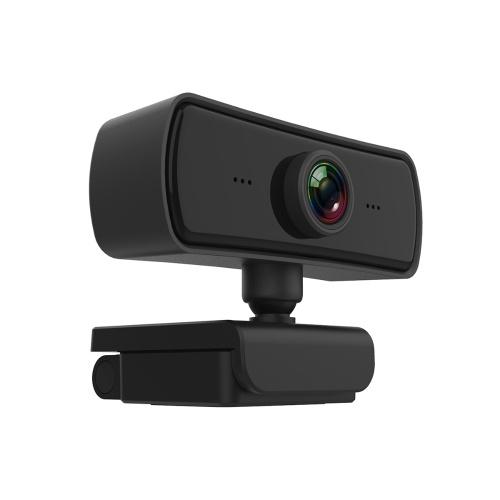 1080P HD Computer Camera Videocamera per videoconferenza Webcam Risoluzione 2K Messa a fuoco automatica Rotazione a 360 ° Compressione video H.264