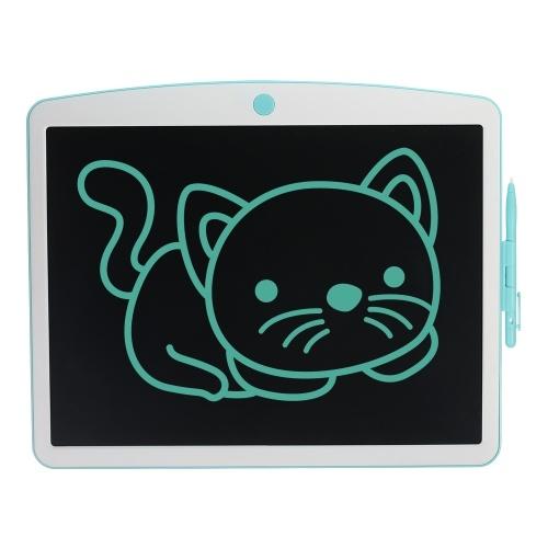 Tavoletta da scrittura LCD da 16 pollici con penna stilo Cancella e pulsante di blocco Riutilizzabile tavolo da disegno digitale elettronico Blocco per scrittura a mano