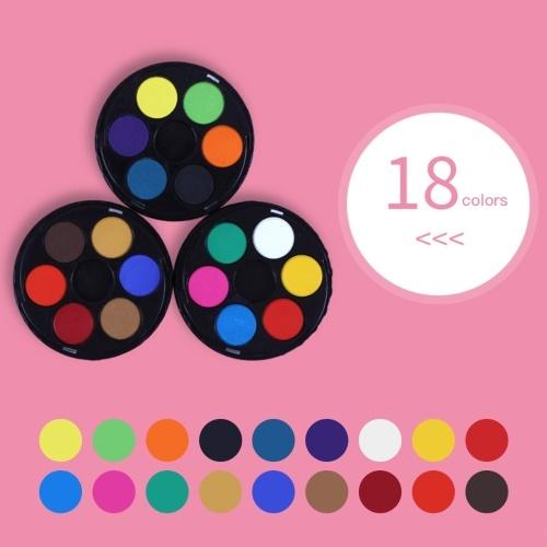 Набор для рисования пигментами 18 цветов твердой акварельной краской