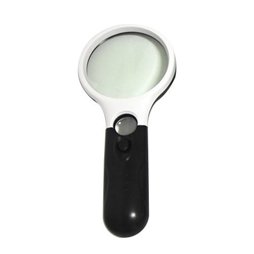 Image of Handlupe Lesen Lupe Linse Schmuck Lupe 3X 45X mit 3 LED-Licht zum Lesen Inspektion Schmuck Hobbys Handwerk