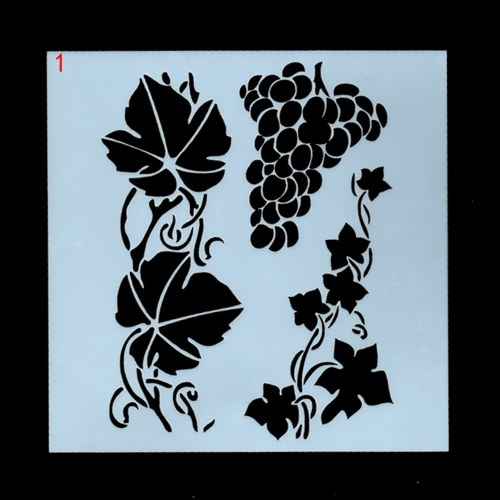 1pc Drawing Stencils Flowers and Leaves Template