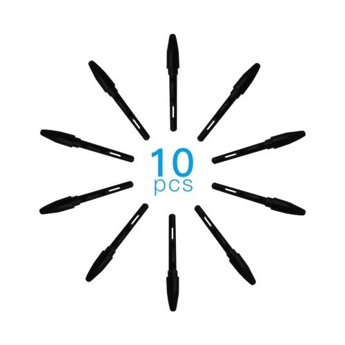 Huion PN01 10 Stück Ersatzspitzen Stiftspitzen Kompatibel mit PEN68 / PEN80 Grafikzeichnungstablett Stylus Schwarz