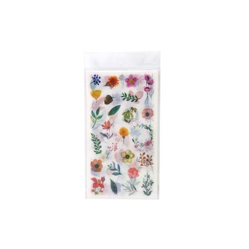 Blumenpflanzen Aufkleber Selbstklebende Dekoration Aufkleber Washi Japanischer Aufkleber 6 Blatt / Pack
