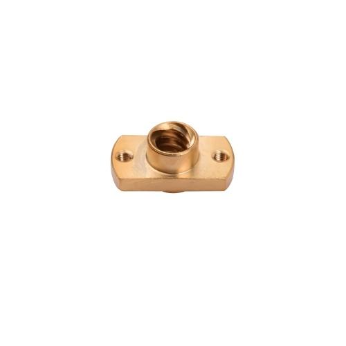 Aibecy 1-teilige T8-Schraubenmutter Messing-T-förmige Mutter 8 mm Innendurchmesser Kompatibel mit 3D-Druckern der CR-10 / Ender-Serie (Gold, 1 Stück)