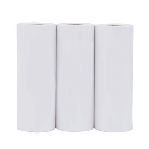 Poooli 79,5 * 30mm branco rolo de papel térmico não adesivo