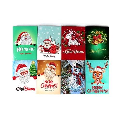 5D DIY Diamond Painting Christmas Cards Halloween Christmas Birthday Greeting Cards con buste e strumenti Art Craft Regalo fatto a mano per bambini Amici di famiglia