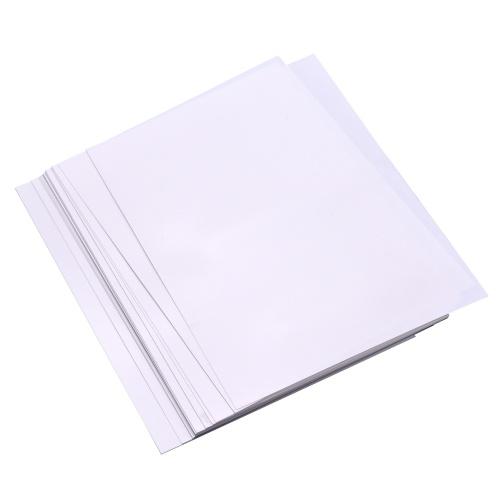 Kit di 25 fogli di film termoretraibili stampabili bianchi