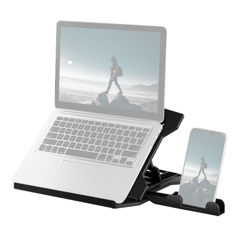 Portable Laptop Riser Stand Foldable Desktop Laptop Holder with 8 Levels Height Adjustment Ergonomic Computer Notebook Stand Bracket for Laptop Tablet 10-15.6 Inches