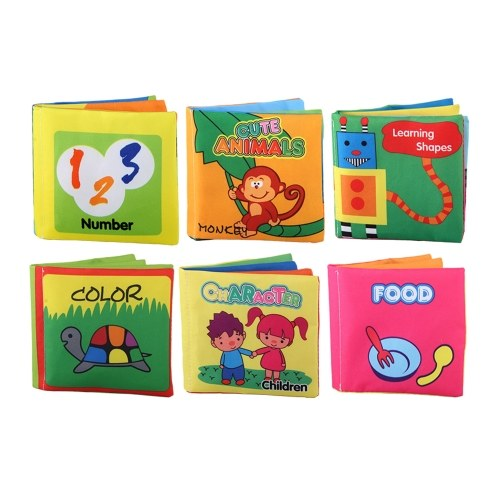 6 Pack Soft Baby Cloth Books