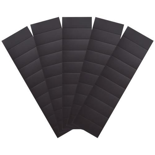 Strisce magnetiche autoadesive da 50 pezzi (ciascuna 40x15x0,5 mm) su 5 fogli di nastro adesivo con forte supporto adesivo per biglietti da visita con calendario fotografico di artigianato fai-da-te