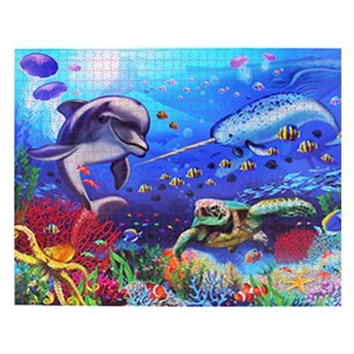 1000 Stück Puzzle für Erwachsene Zusammenstellen von Bild-Puzzle-Spielen Pädagogisch herausforderndes Spielzeug Geburtstagsgeschenk für Kinder Teenager Familie, Meerblick