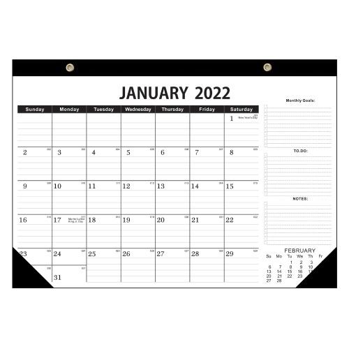 Calendario 2021-2022 Calendario mensile da tavolo / da parete Planner da gennaio 2021 a giugno. 2022 12x17 pollici con protezioni angolari per la pianificazione e l'organizzazione per l'ufficio domestico