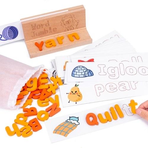 Игра с подходящими буквами, игрушка для изучения правописания
