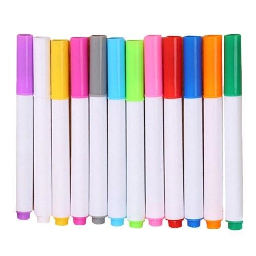 Pennarelli cancellabili a secco con gesso ad acqua a 12 colori Pennarello artistico non tossico lavabile per lavagna da disegno