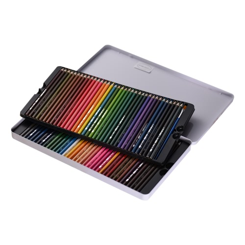 72 Color Premium Pre-Sharpened Water-soluble Water Colored Pencils Set with Brush Metal Case for Kids Adults Artist Art Drawing Sketching Writing Artwork Coloring Book