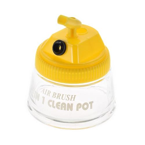 Escova de ar de ar-brilho de vidro de limpeza recipiente de garrafa de potenciômetro com titular de tampa de plástico Goiavelas 700ml