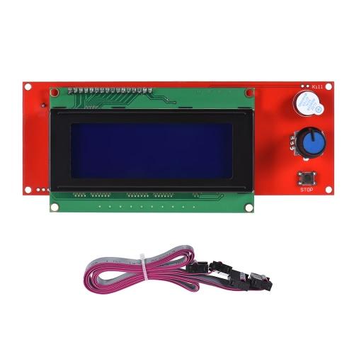 2004 Módulo controlador de tela de tela inteligente LCD com cabo para repeler rampas Acessório para impressora 3D