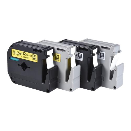 Black on White Label Tape Compatible for Brother PT-65-PT-70-PT80 Label Printer 9mm * 8m