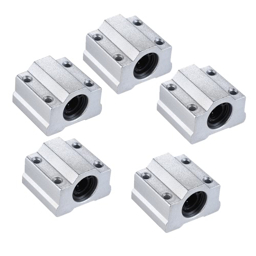 Aibecy 4pcs LM8UU 8mm Inside Dia Rubber Linear Ball Bearing Bushing for RepRap i3 Anet 3D Printer